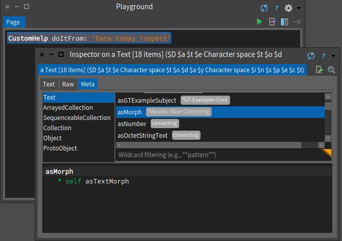 Pharo 6 doItFrom Text return as Morph