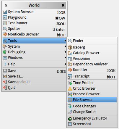 pharo6-world-tools-file-browser-menu.png